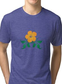 Vector Flower with Flourishes Tri-blend T-Shirt