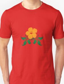 Vector Flower with Flourishes Unisex T-Shirt
