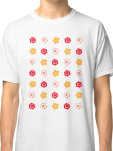 Vector Flower Pattern Classic T-Shirt