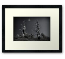 """"""" Night on Wizards Mountain """" Framed Print"""