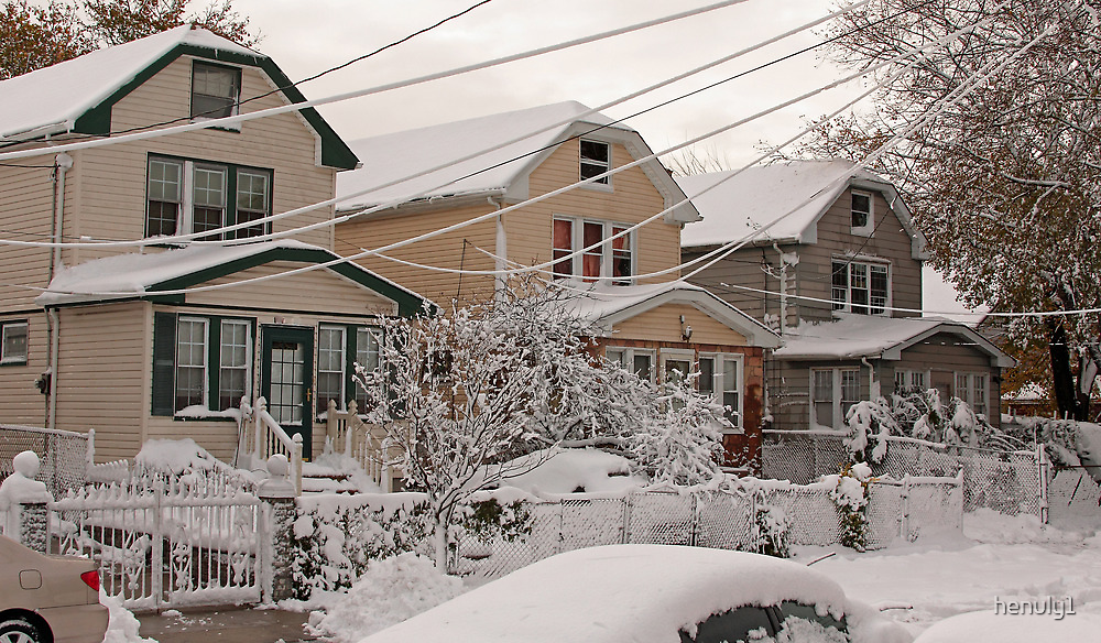 First snow storm of winter-one week after Sandy by henuly1