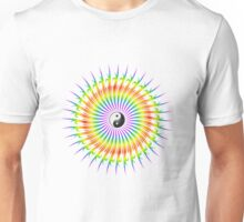 Yin Yang and Spiral Graphic Unisex T-Shirt