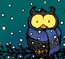 Owl in the snow Sticker