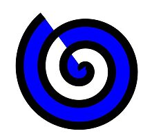 Blue and White Spiral by SimpleStickers