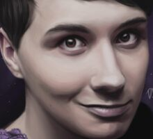 Dan Howell 'Night Flowers' Sticker