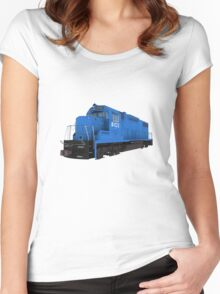Railroad / Train Engine Women's Fitted Scoop T-Shirt