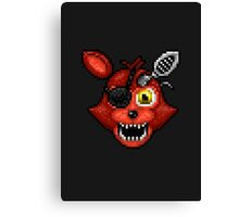 Adventure Withered Foxy - FNAF World - Pixel Art Canvas Print