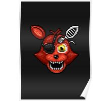Adventure Withered Foxy - FNAF World - Pixel Art Poster