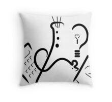 Science Fair Logo Throw Pillow