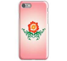 Vector Flower with Flourishes iPhone Case/Skin