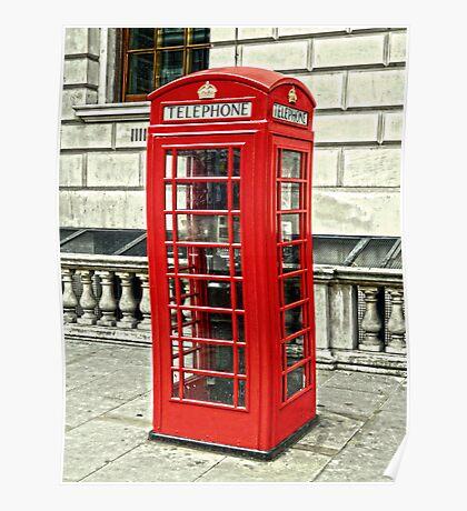 Whitehall Phone Box Poster