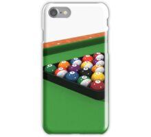 Billiards / Pool Balls on Table iPhone Case/Skin