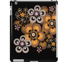 Gold and Black Fantasy Flowers iPad Case iPad Case/Skin