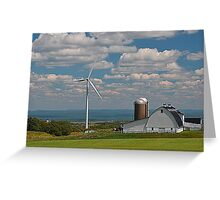wind mill with farm Upstate New York Greeting Card