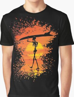 Skeleton with surfboard Graphic T-Shirt
