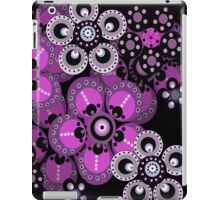 Violet and Black Fantasy Flowers iPad Case iPad Case/Skin