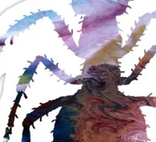 Abstract colorful ant painting Sticker