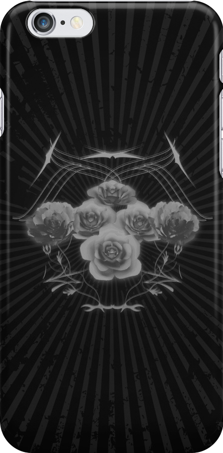 Halftone Roses and Tribal Graphics by bradyarnold