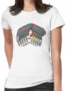 Lady Maze Stacked Womens Fitted T-Shirt