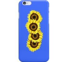 Iphone Case Sunflowers - Mid Blue iPhone Case/Skin