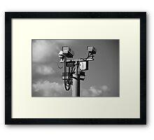 CCTV cameras, Ashford Framed Print