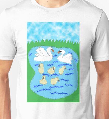 Seven Swans A-Swimming Unisex T-Shirt