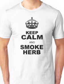 KEEP CALM AND SMOKE HERB Unisex T-Shirt