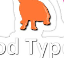 TYPE A Sticker