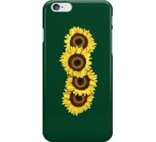 Iphone Case Sunflowers - Dark Green iPhone Case/Skin