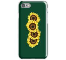 Iphone Case Sunflowers - Dark Green iPhone Case/Skin