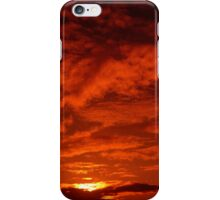 Red Sky North Sea iPhone Case/Skin