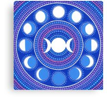 Moon Cycle Mandala Canvas Print