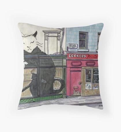 Banksy Pub, Liverpool Throw Pillow