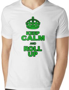 KEEP CALM AND ROLL UP Mens V-Neck T-Shirt