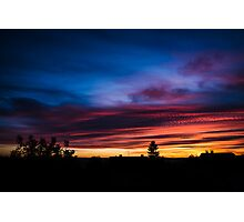 Colorful sunset with dramatic clouds Photographic Print