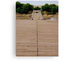 A bridge for pedestrians Canvas Print