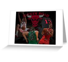Chicago Bulls - Joakim Noah Poster Greeting Card