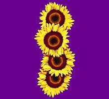 Iphone Case Sunflowers - Purple Haze by Mark Podger
