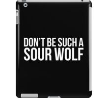 Sour Wolf - white text iPad Case/Skin