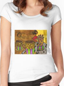 I'll Take Three Cups of Java Please Women's Fitted Scoop T-Shirt