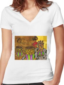 I'll Take Three Cups of Java Please Women's Fitted V-Neck T-Shirt