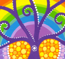 Rainbow Boab Tree of Life Sticker