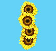 Iphone Case Sunflowers - Light Blue by Mark Podger