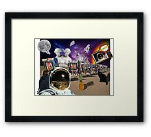 Astronaut Invaders In The Cadillac Desert Framed Print