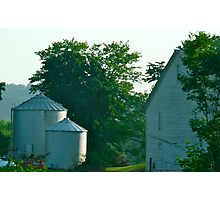 Silo and Farmhouse Photographic Print