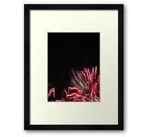 Fireworks Light Trails 10 Framed Print