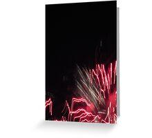 Fireworks Light Trails 10 Greeting Card
