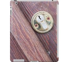 Wooden door with a keyhole brass iPad Case/Skin