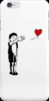 Banksy Inspired Balloon Boy by SarahsArtyStuff