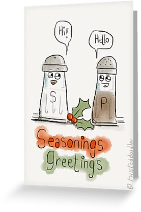 Seasonings greetings by twisteddoodles